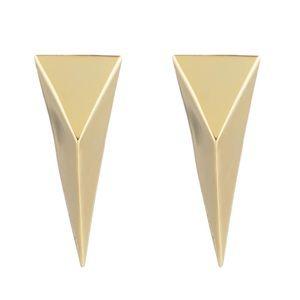 ALEXIS BITTAR • Gold Pyramid Clip On Earrings